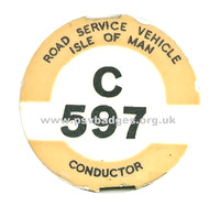 C 597 Road Service Vehicle Isle of Man -Conductor