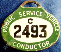 C2493 early enamel hanging badge issued until 1935
