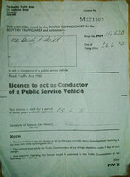 MM 116530 Conductors licence.